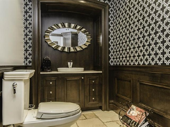 Bathroom with a built in vanity