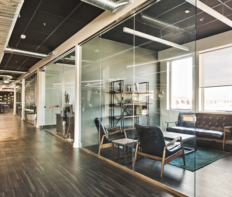 Glass sectional office